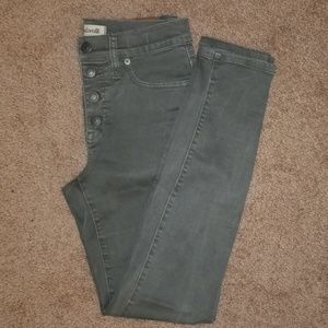 EUC Madewell button front high rise skinny